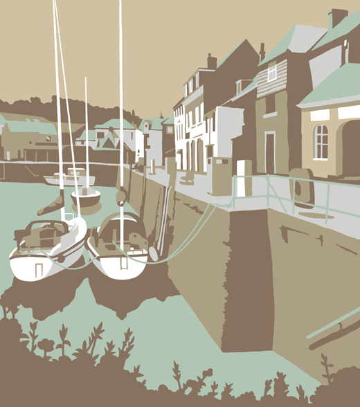 Padstow 2 wallpaper mural