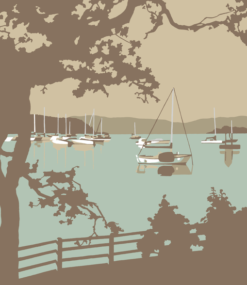 Poole Harbour View wallpaper mural