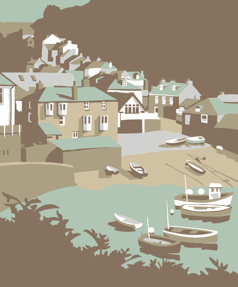 Port Issac mural wallpaper