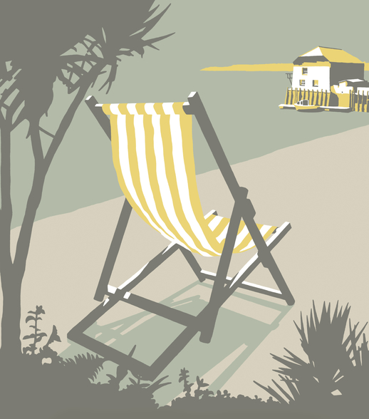 Rock Deckchair wallpaper mural