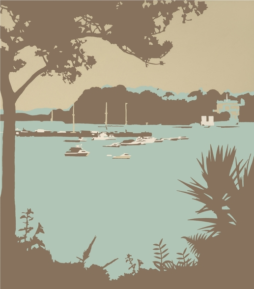 Sandbanks and Brownsea Island wallpaper mural