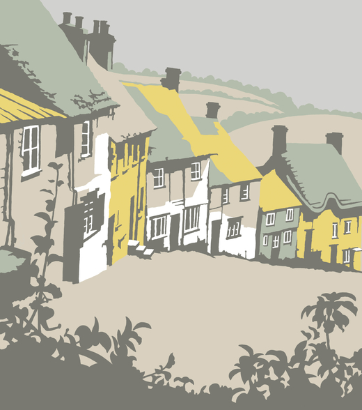Shaftesbury wall mural