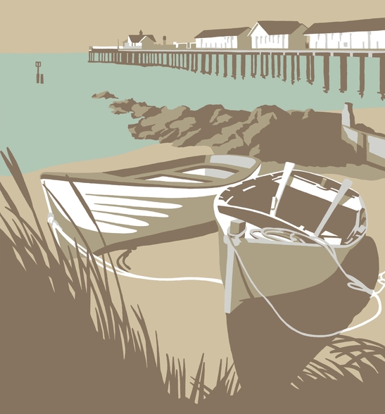 Southwold Boats and Pier wall mural