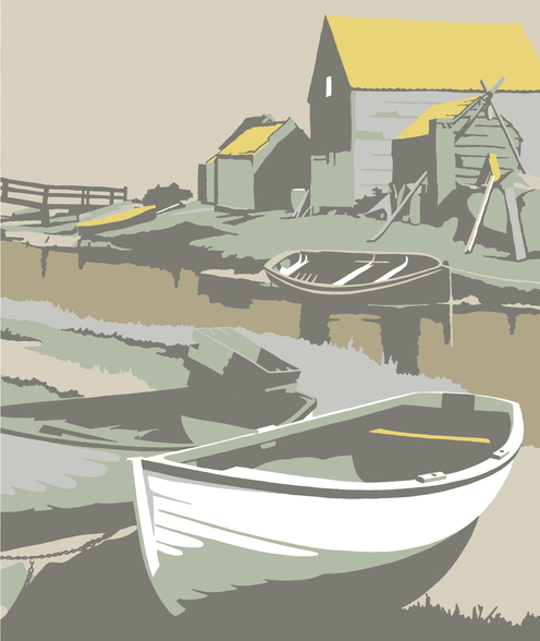Southwold Harbour 2 mural wallpaper