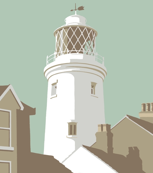 Southwold Lighthouse mural wallpaper