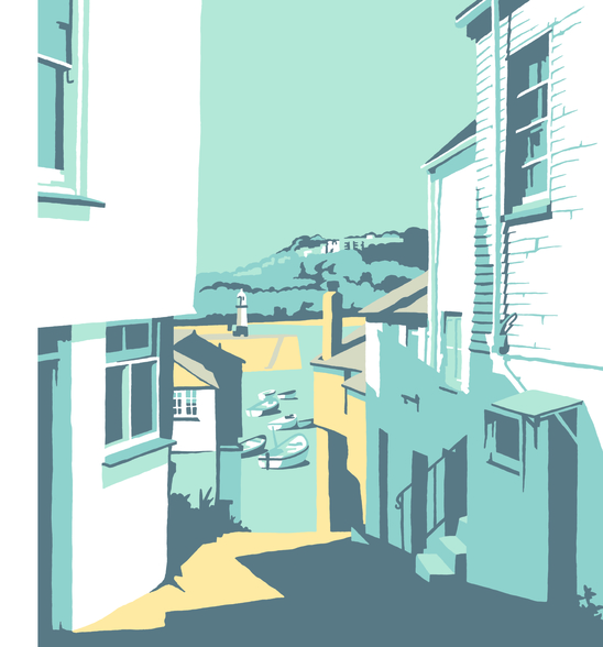 St Ives 2 mural wallpaper