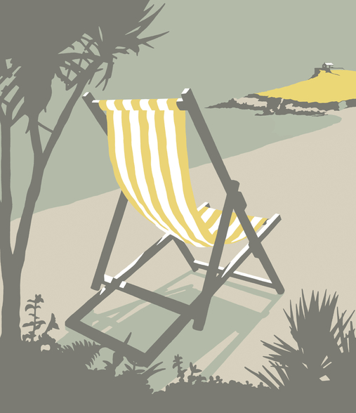 St Ives Deckchair wall mural