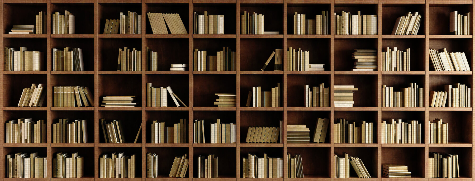 Natural Bookcase Wallpaper Mural Wall Photo