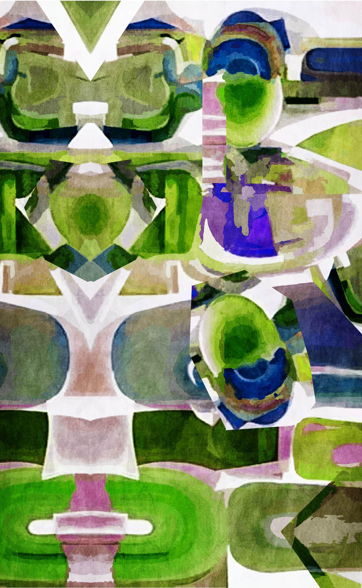 dreamland green wall mural by studio arterie wallsauce com