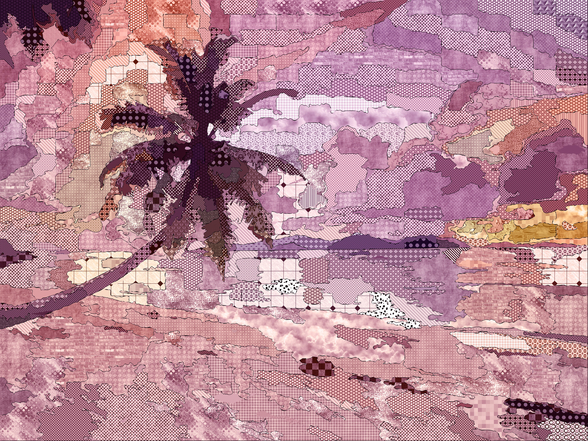 Seychelles Purple wall mural