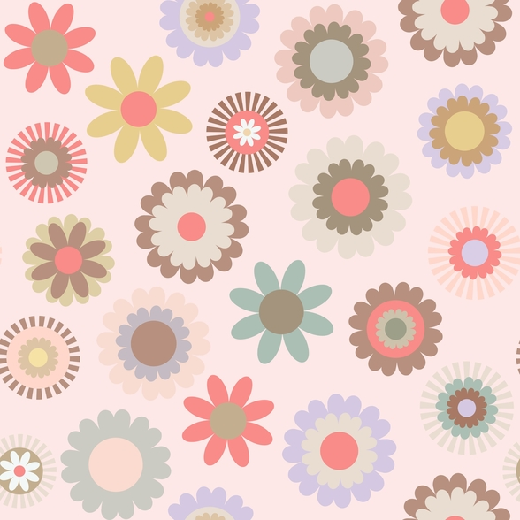 Floral Frenzy mural wallpaper