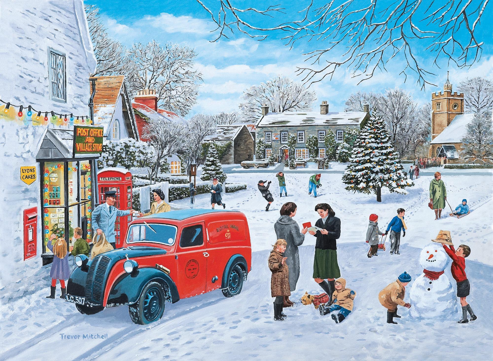 Christmas Wall Mural Christmas Wallpaper Wallsauce UK