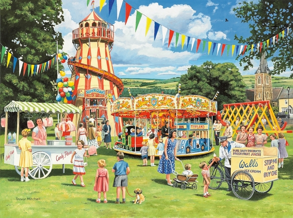 Funfair on the Green mural wallpaper