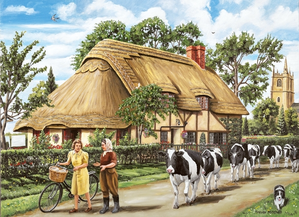 Milking Time mural wallpaper