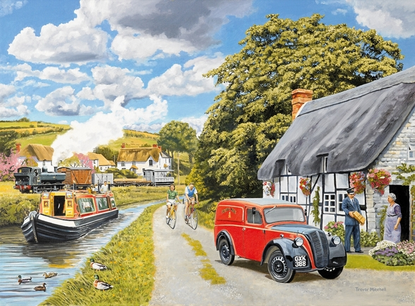 Parcel For Canal Cottage wall mural