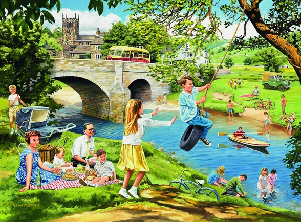 The Riverbank wall mural