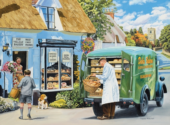 The Village Bakery wall mural