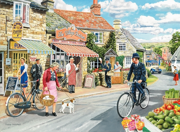 The Village High Street wallpaper mural