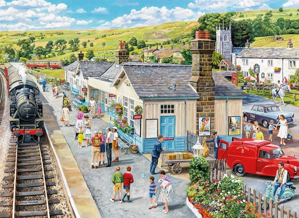 The Village Station mural wallpaper