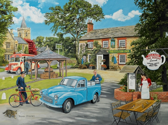 The Village Tea Rooms wall mural