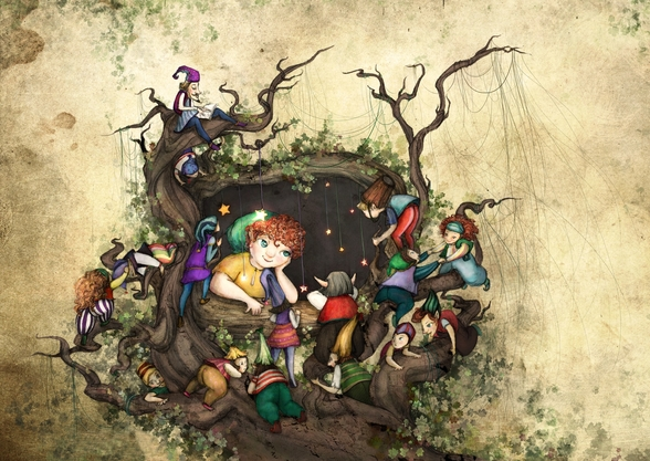Forest Window wall mural