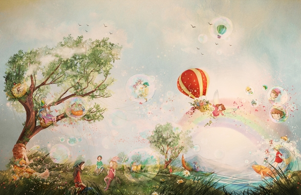 The Meadow wallpaper mural