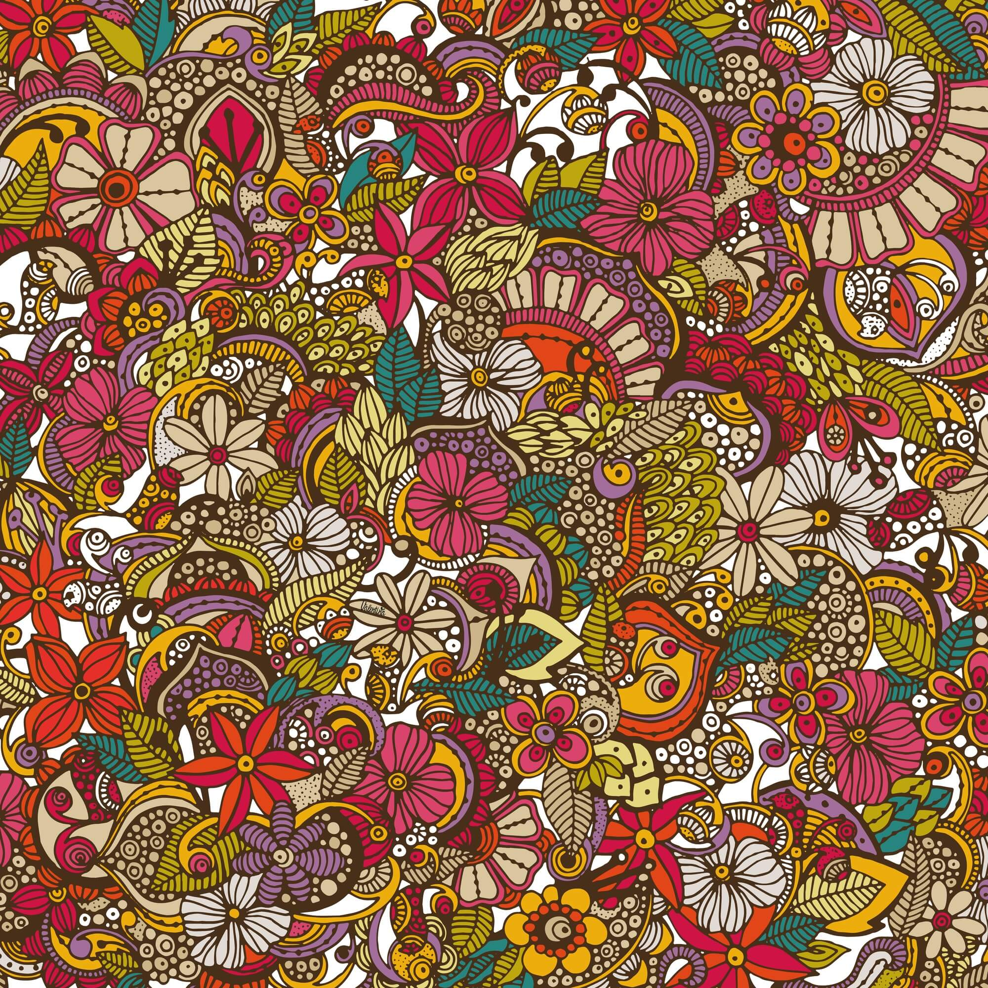 I Spy Colors mural wallpaper
