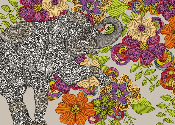 Elephant Puzzle mural wallpaper