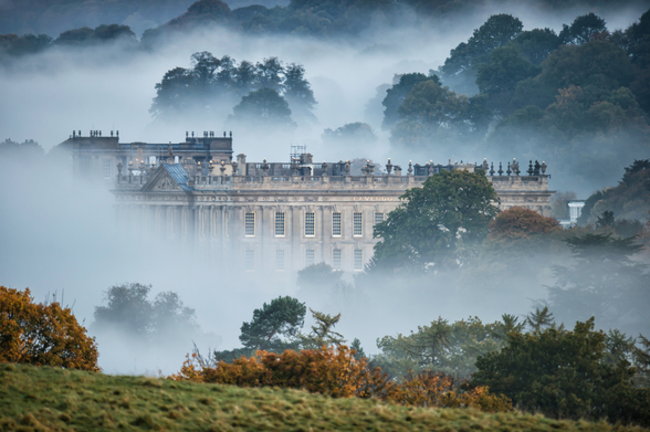 Chatsworth In The Mist wall mural