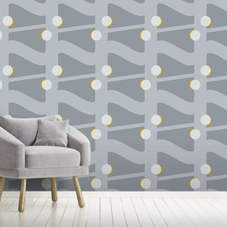Fibre Mustard Wallpaper Wall Murals