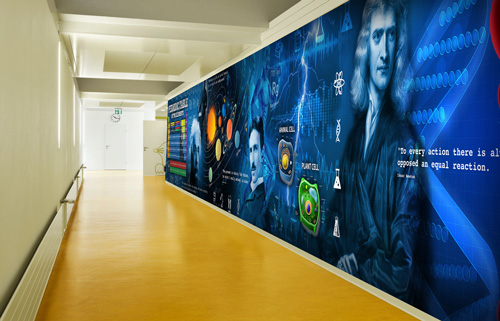 Wall murals wallpaper for schools colleges wallsauce for Education mural