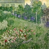 Daubignys garden, 1890 (oil on canvas) mural wallpaper thumbnail