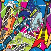 Colourful Music mural wallpaper thumbnail