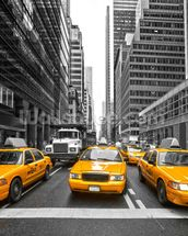 Manhattan Yellow Taxis mural wallpaper thumbnail