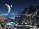 Moonlit Alien Valley Canyon wall mural thumbnail