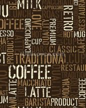Abstract Coffee mural wallpaper thumbnail