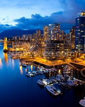 Vancouver at Night wallpaper mural thumbnail