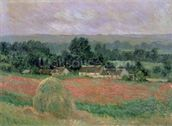 Haystack at Giverny, 1886 (oil on canvas) wall mural thumbnail