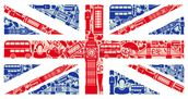 Union Jack Montage mural wallpaper thumbnail