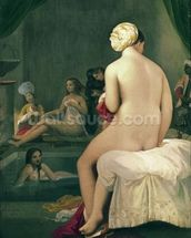 The Little Bather in the Harem, 1828 (oil on canvas) wallpaper mural thumbnail