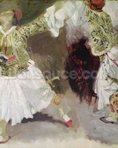 Two Greek Soldiers Dancing (Study of Soliote Dress) (oil on canvas) mural wallpaper thumbnail