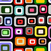Retro Squares Pattern mural wallpaper thumbnail