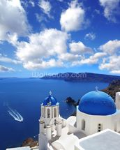 Church, Santorini wall mural thumbnail