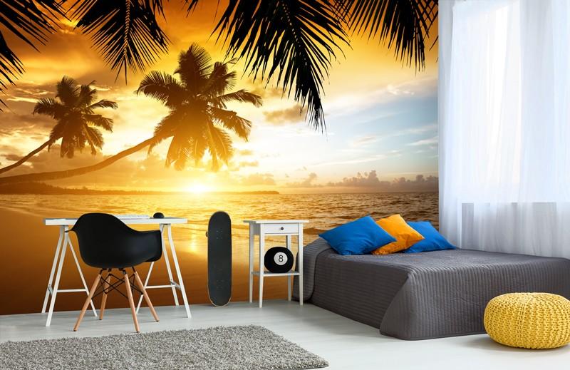 Beach Wall Murals Holiday Wallsauce Uk Sunset Wallpaper Bedroom Rooms