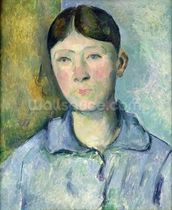 Portrait of Madame Cezanne, 1885-90 (oil on canvas) mural wallpaper thumbnail