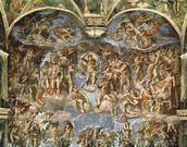 Last Judgement, from the Sistine Chapel, 1538-41 (fresco) wall mural thumbnail