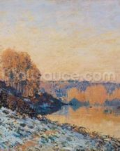 Port-Marly, White Frost, 1872 (oil on canvas) wall mural thumbnail