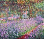 The Artists Garden at Giverny, 1900 (oil on canvas) wall mural thumbnail