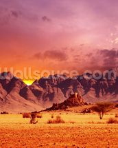 Namib Desert Sunset wall mural thumbnail