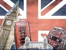 Union Jack London Collage wall mural thumbnail